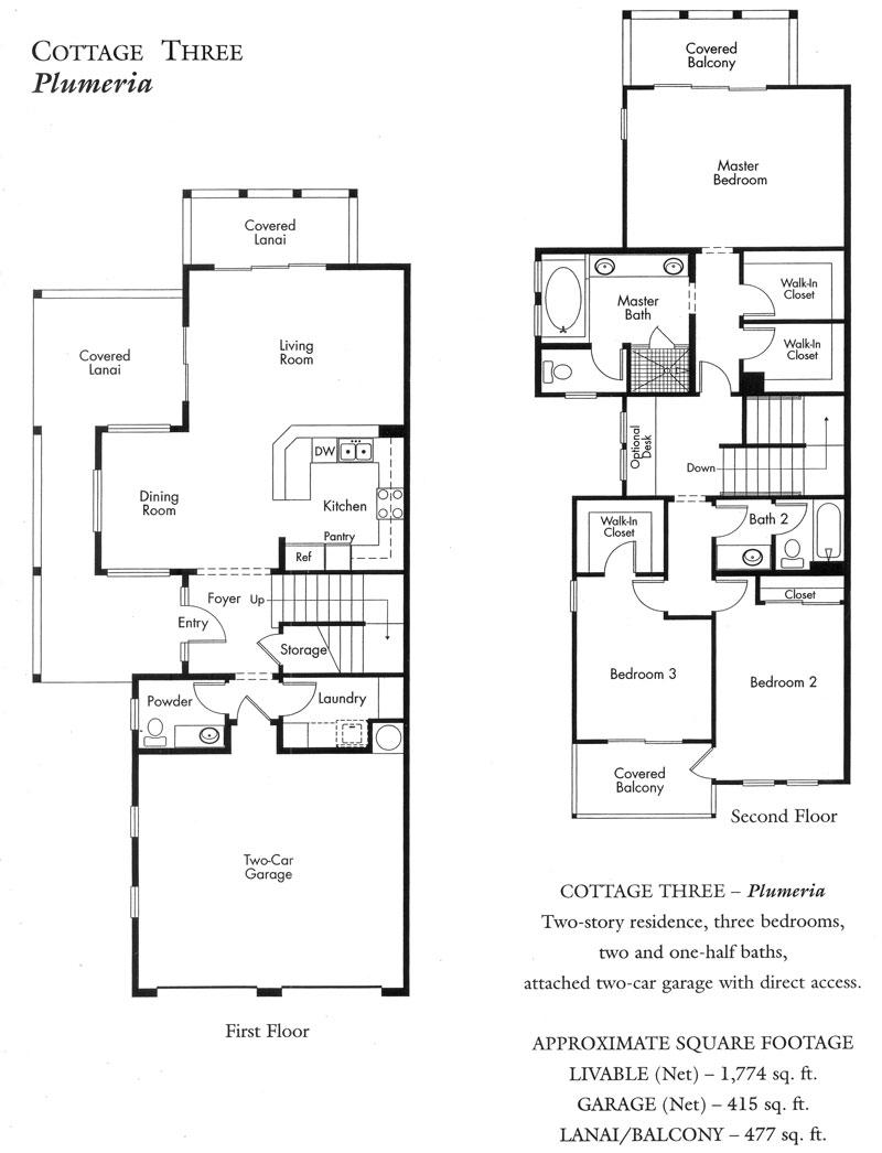 """Plumeria"" Cottage plan"