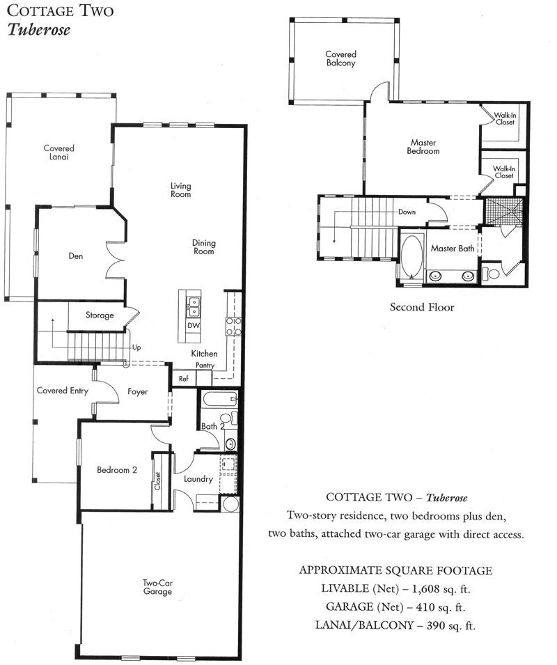 """""""Tuberose"""" Cottage plan - 2nd version"""
