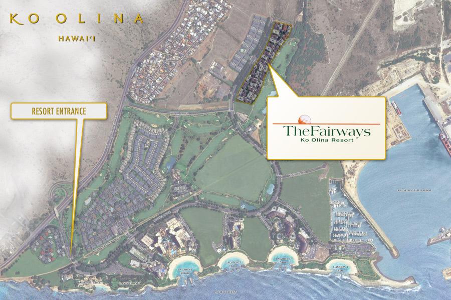 The Fairways at Ko Olina satellite map.