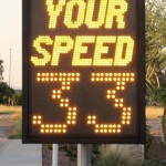 Fast-475 pole mounted speed display