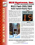 Fast-350/360 Radar Speed Display