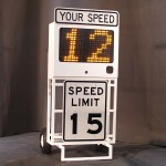 Fast-500 portable speed sign