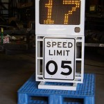 Fast-525 skid mounted speed sign