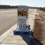 Fast-525 skid mounted speed radar sign
