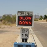Fast-550 skid mounted speed sign