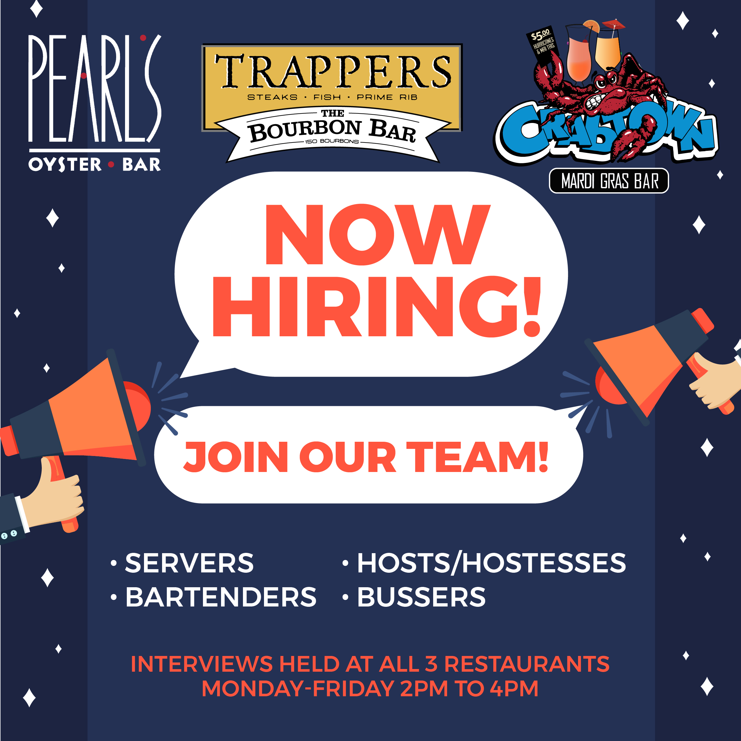 Come join our team today!