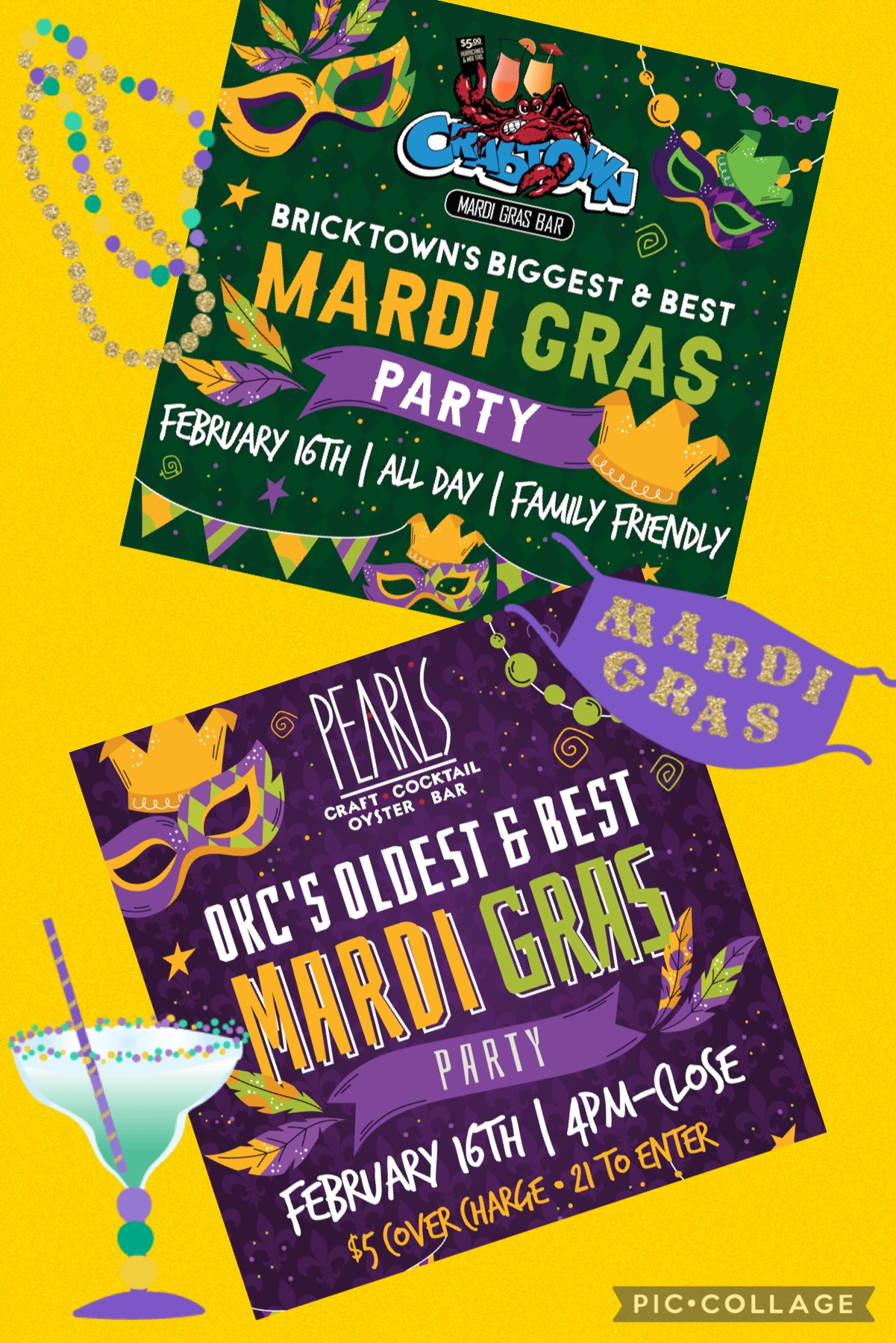 1 week until MARDI GRAS! Come Party with PRG!