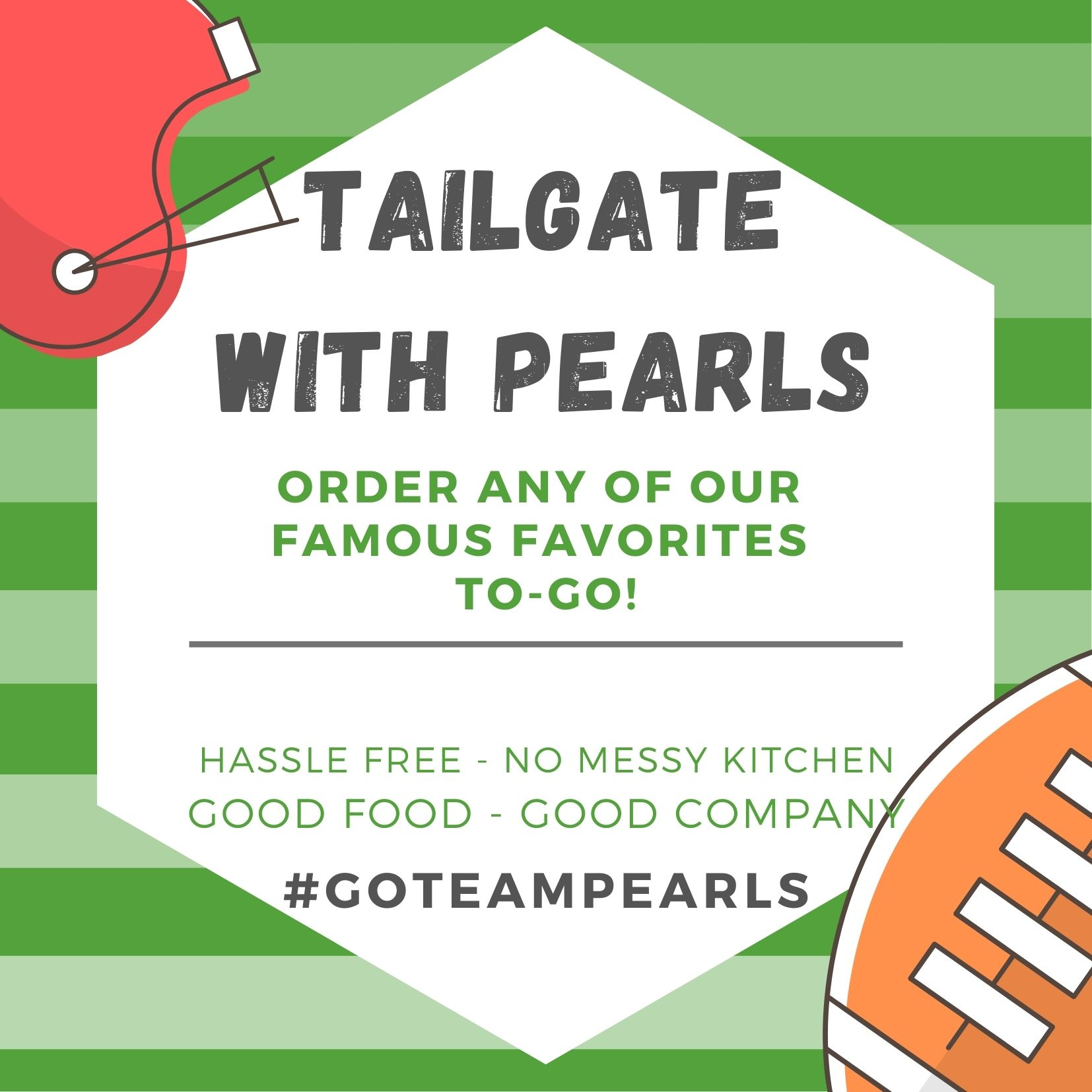 Tailgate Party with PEARLS!