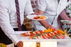 People group catering buffet food indoor in luxury restaurant