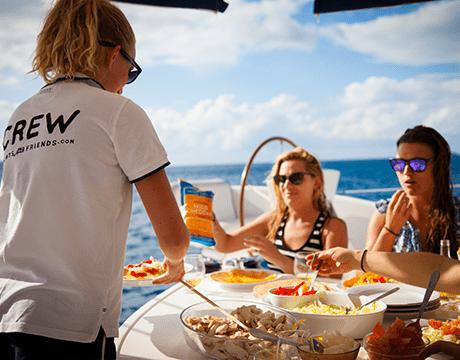 Crewed Catamaran Charter Italy Hostess Crew