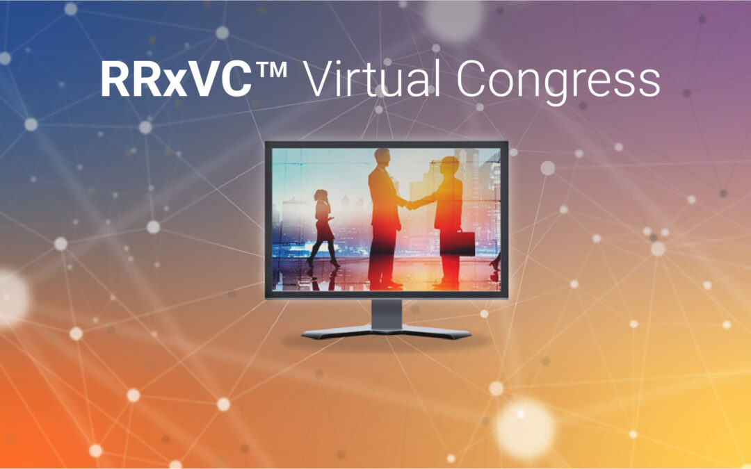 Image of people meeting on a computer screen with text reading: RRxVC Virtual Congress.