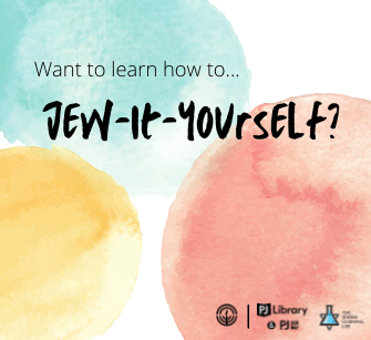 """PJ Library wants to help you """"Jew-It-Yourself"""""""