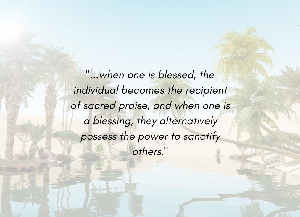 Blessed vs Blessing