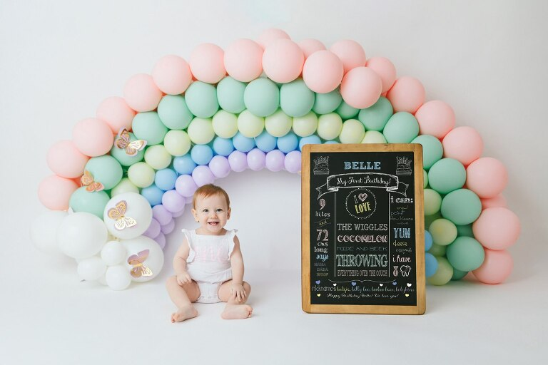 Rainbow Cake Smash Photographer
