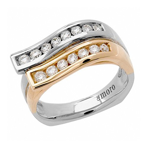Amoro 18kt White Gold Diamond Ring (0.54 cttw, H-I Color, SI 1-2 Cl