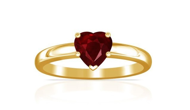14K Yellow Gold Heart Cut Ruby Solitaire Ring (GIA Certificate) Price: $5,213.00