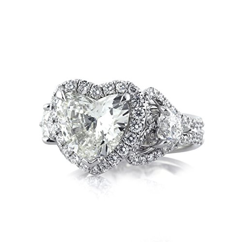 4.25ct Heart Shaped Diamond Engagement Ring