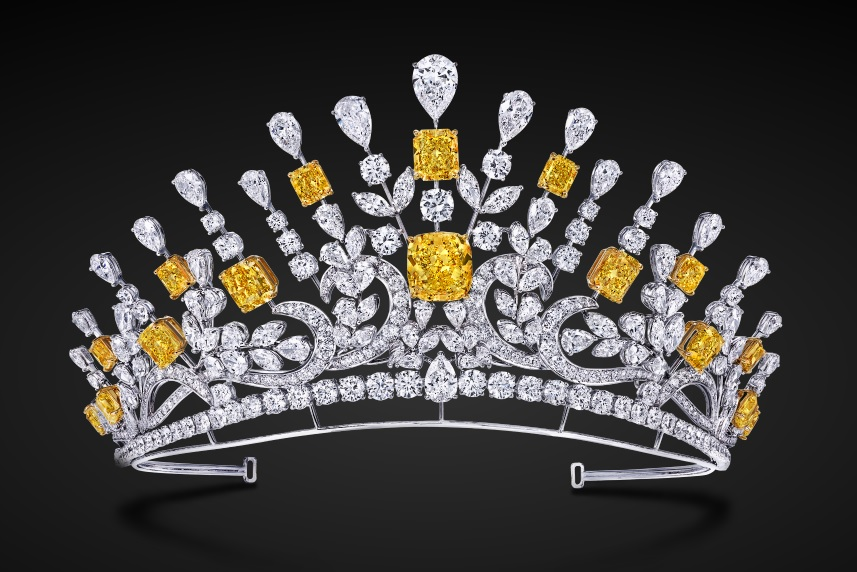 Yellow and White Diamond Tiara by Graff Diamonds