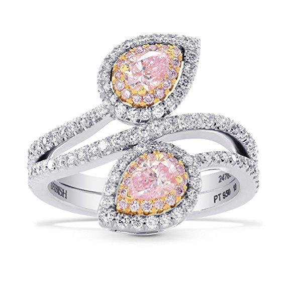 1.04Cts Purple Diamond Engagement Halo Ring Argyle Set in Platinum GIA Cert