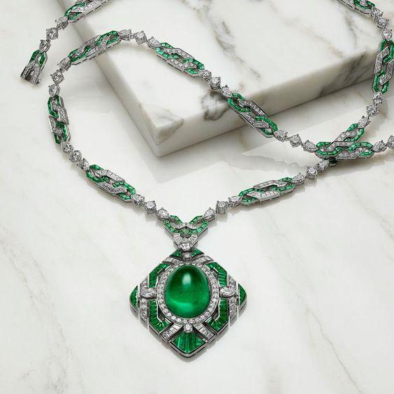 Bulgari Emerald and Diamond Necklace
