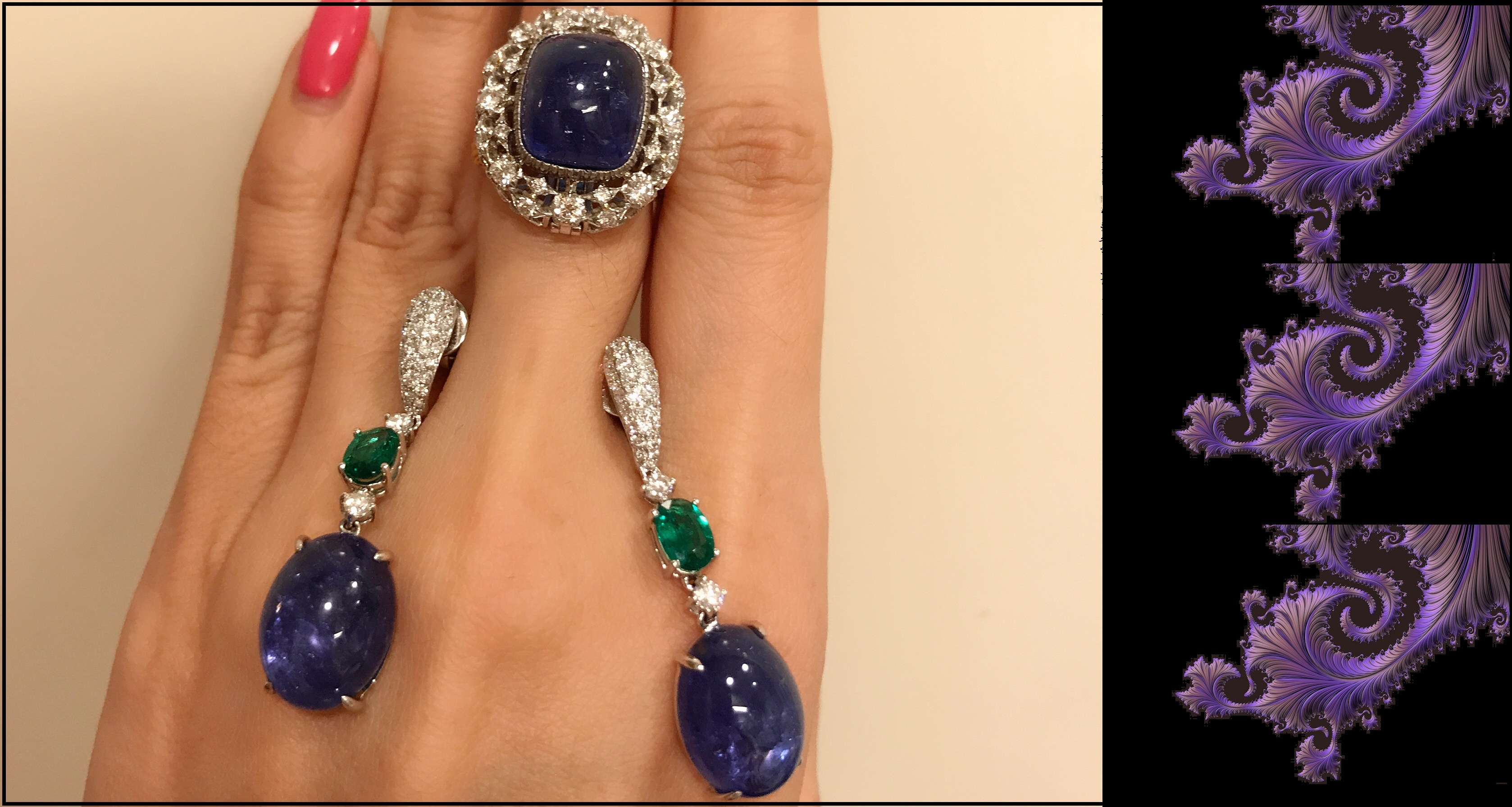 Tanzanite Ring and Earrings