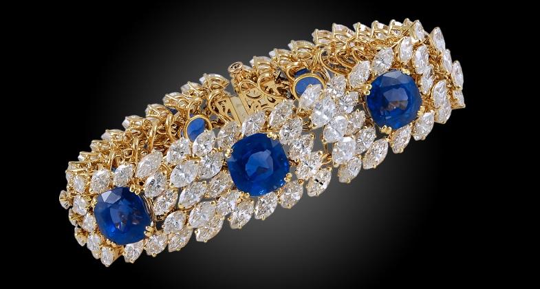 CARTIER Diamond & Ceylon Sapphire Bracelet