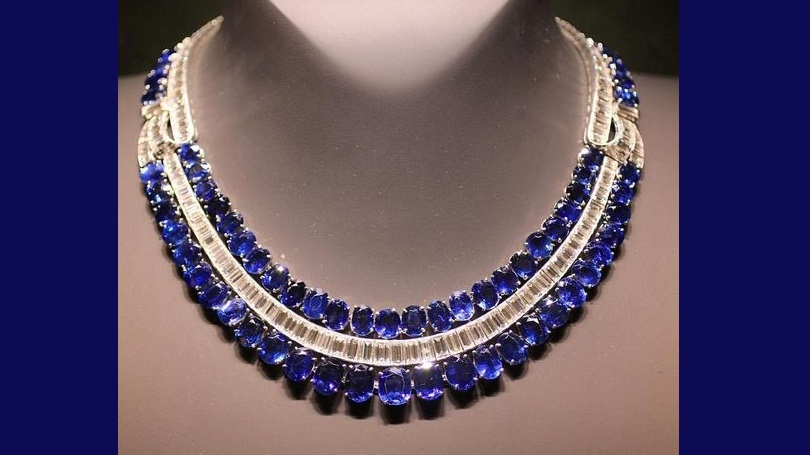 Gorgeous Sapphire and Diamond Necklace by Van Cleef & Arpels
