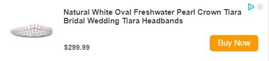 Natural White Oval Freshwater Pearl Crown Tiara Bridal Wedding Tiara