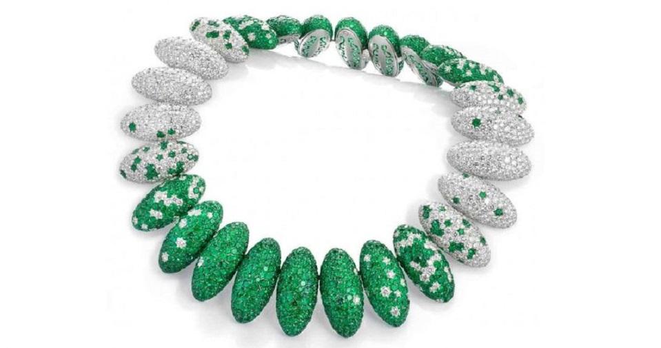 Emerald and Diamond Necklace by de Grisogono