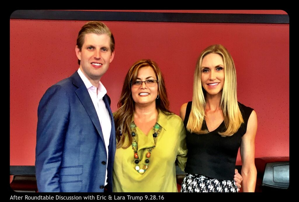 After Roundtable Discussion with Eric and Lara Trump
