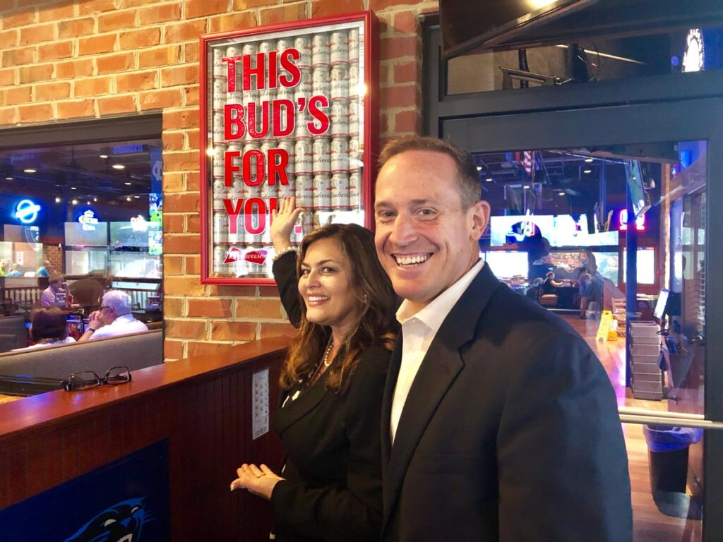 Campaigning for Ted Budd for Congress Bus Tour