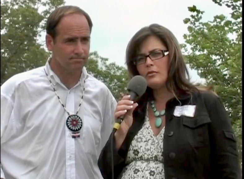 Interviewing Congressman Zach Wamp at DAY OF REMEMBRANCE CEREMONY, June 2008