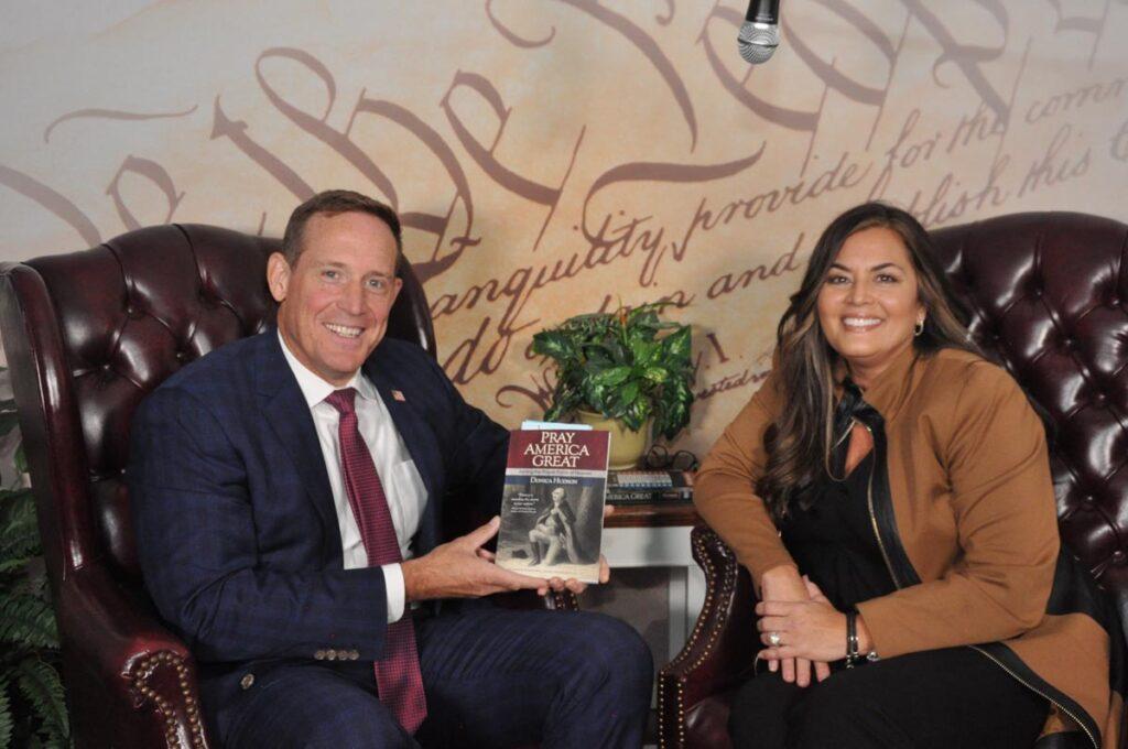 NC Congressman Ted Budd endorsing Pray America Great book
