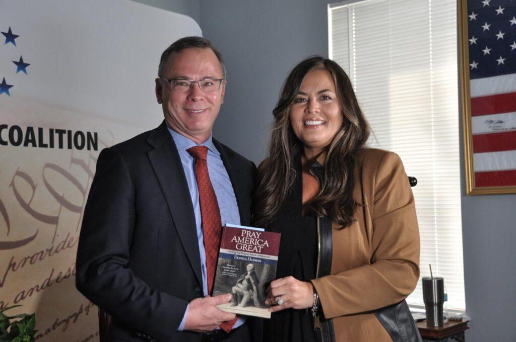 NC Secretary of State Elect EC Sykes endorsing Pray America Great book