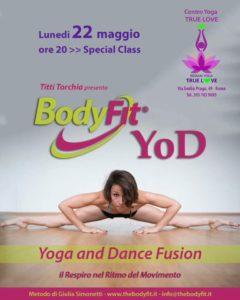 Lunedì 22 maggio Titti insegnerà una classe di BodyFit ® Yod alle 20.00.