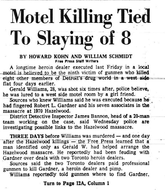 Hazelwood Massacre Detroit
