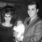Young John Gotti with his wife