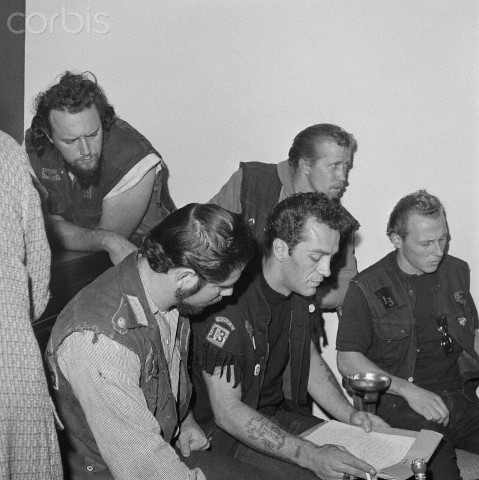 Sonny Barger and HA crew, 1965