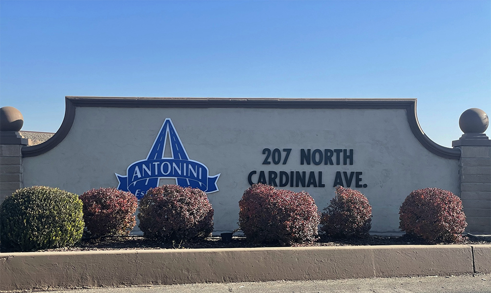 Antonini Sign at 207 N Cardinal Way