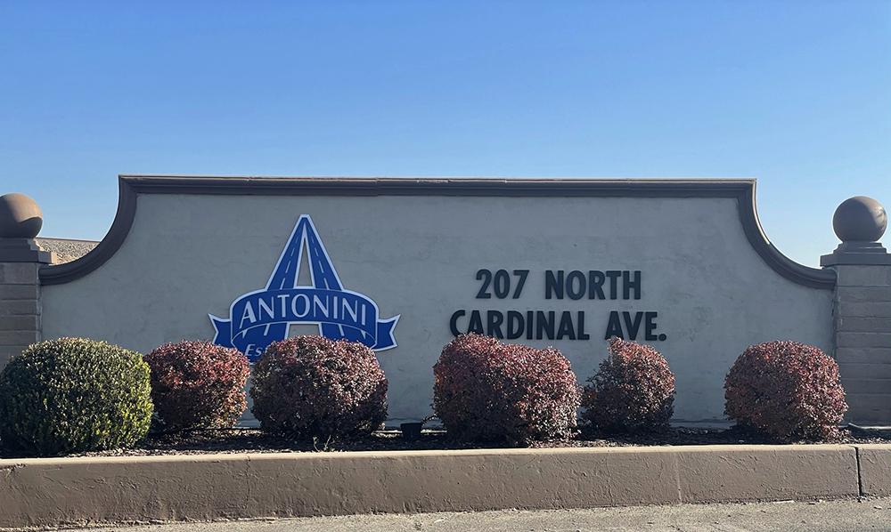 Antonini Sign at 207 N Cardinal Way