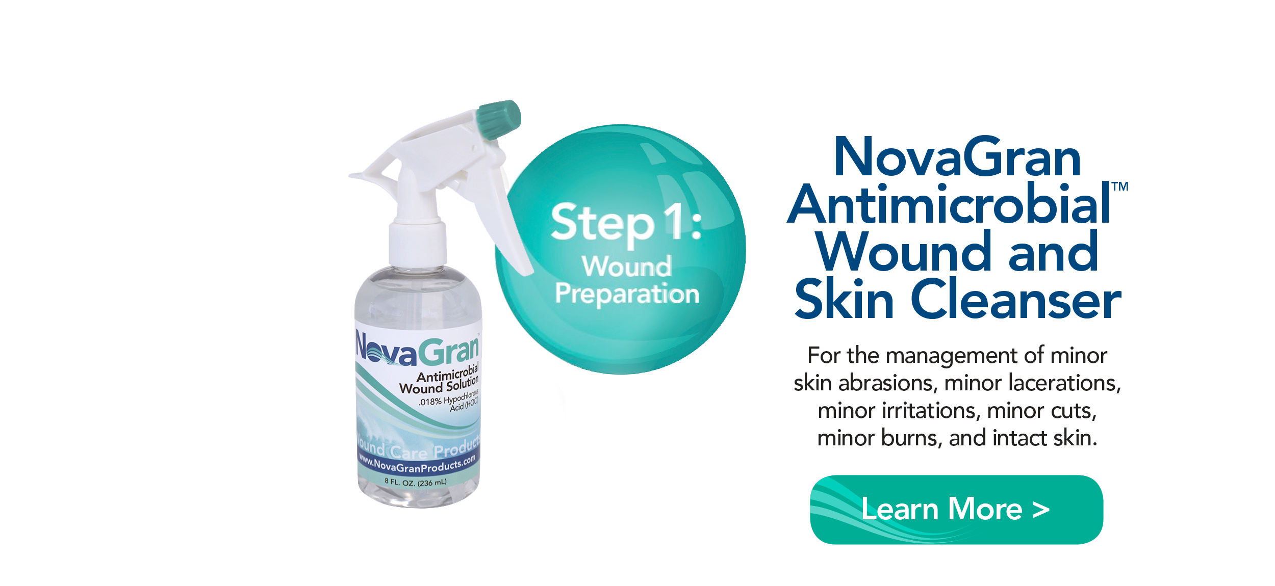 NovaGran Antimicrobial Wound and Skin Cleanser