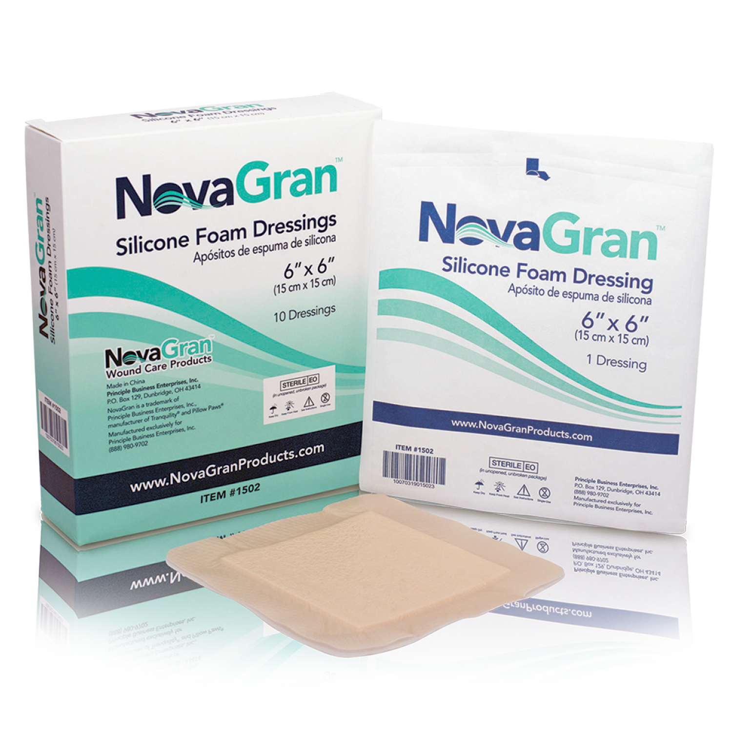 NovaGran Silicone Foam Dressings