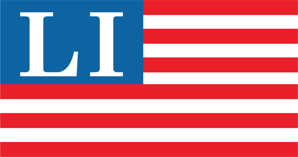 Legal Images Inc Logo - American Flag with LI in Blue