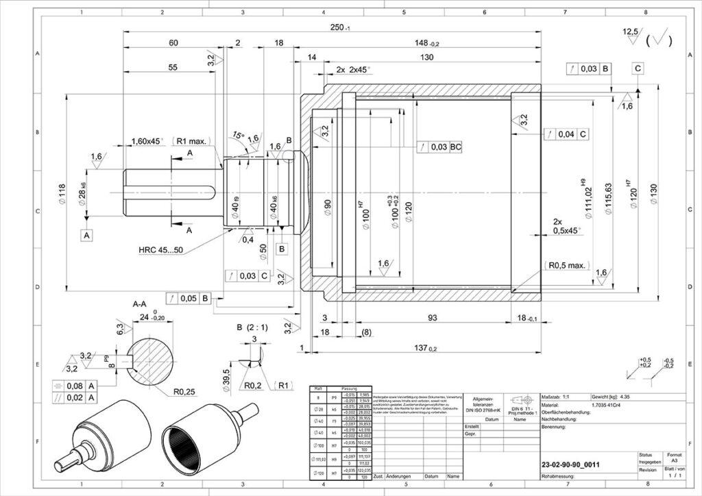 Large oversided blueprint document