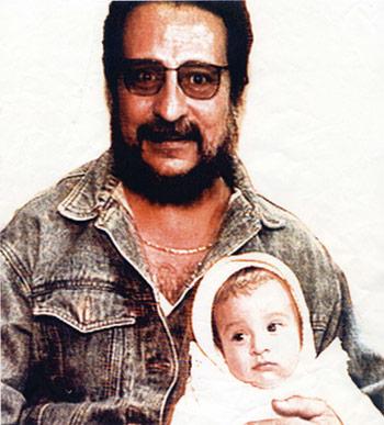 Paco González y su hija hace 18 años