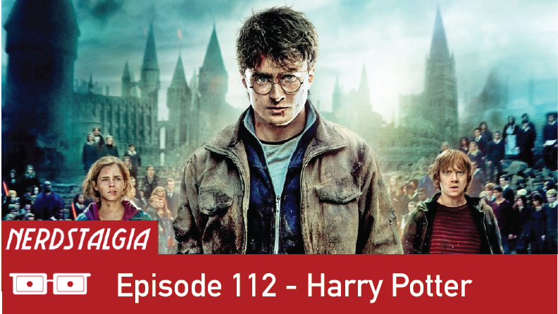 Harry Potter title card for Nerdstalgia