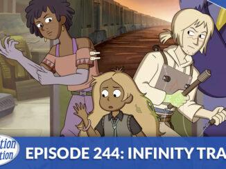 Grace, Hazel and Simon from Infinity Train