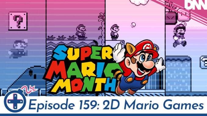 screenshot of the 4 main line Mario 2D games