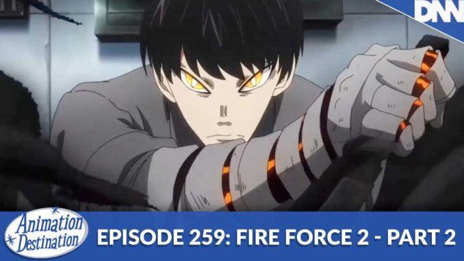 Kurono from Fire Force with an ash blade