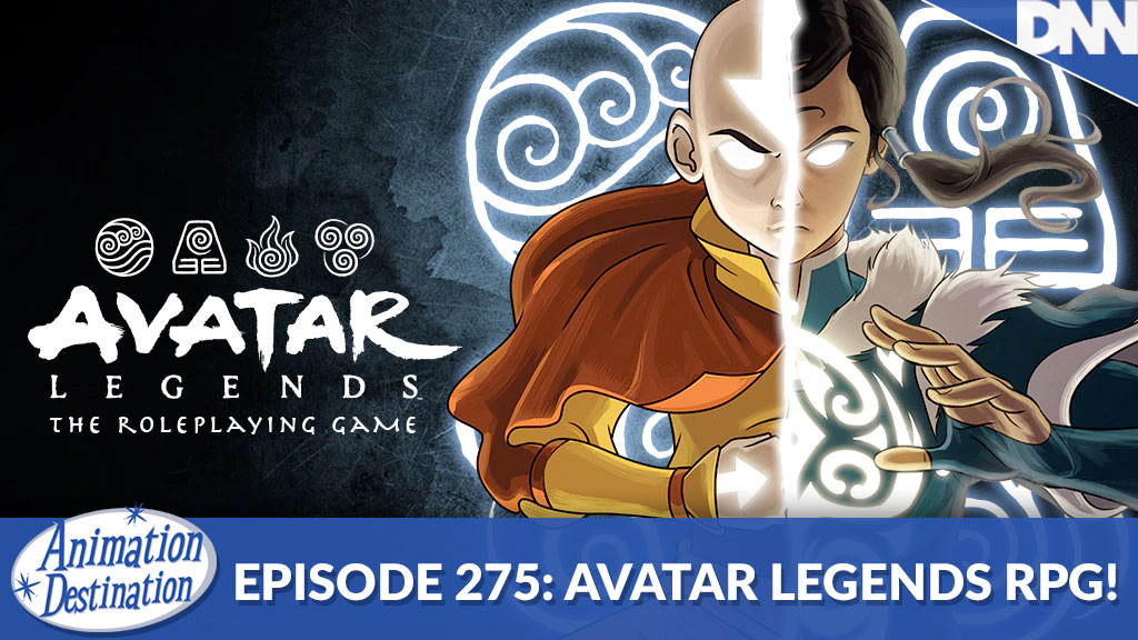 Aang and Korra on the cover of Avatar Legends